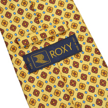 Load image into Gallery viewer, Roxy Flower Print Silk Tie - Yellow