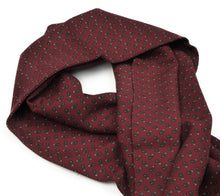 Load image into Gallery viewer, Phoenix Wien Wool Paisley Dress Scarf - Burgundy