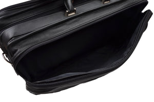 Offermann Flyer Leather Carry-On Business Suitcase - Black