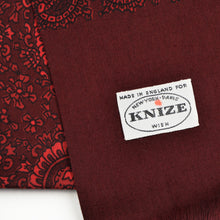 Load image into Gallery viewer, Knize Wien Wool/Silk Dress Scarf - Burgundy & Red