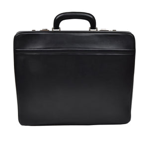 Offermann Flyer Leather Expandable Business Briefcase - Black