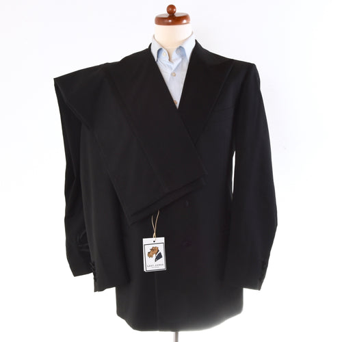 Ermenegildo Zegna Double-Breasted Wool/Mohair Tuxedo - Black