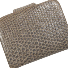 Load image into Gallery viewer, Lizard Skin Snap Wallet/Coin Purse - Grey