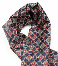 Load image into Gallery viewer, Doubled-Sided Silk/Wool Dress Scarf by Belvedere Wien - Geometric