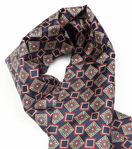 Doubled-Sided Silk/Wool Dress Scarf by Belvedere Wien - Geometric