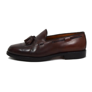Allen Edmonds Grayson Shell Cordovan Loafers Size 8.5EEE - Burgundy