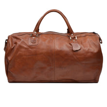 Load image into Gallery viewer, 3 Piece Leather Travel Bag Set Duffle/Shoulder - Brown