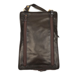 Longchamp Paris Expandable Travel Bag - Dark Brown