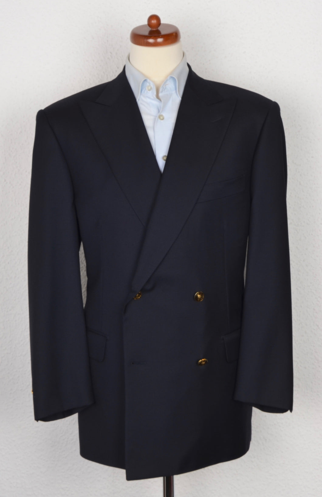 Pal Zileri Double Breasted Blazer Size 52 C - Navy Blue