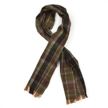Load image into Gallery viewer, George Harrison & Co Plaid Wool Winter Scarf - Brown/Green