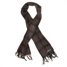 Load image into Gallery viewer, Classic Plaid Winter Scarf in 100% Pure Cashmere - Brown/Green/Blue