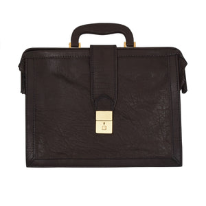 Mädler Leather Briefcase - Chocolate Brown