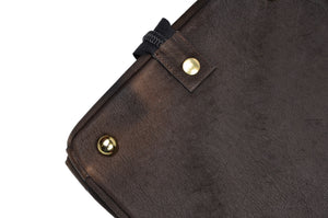 Jean Weipert Traveller Buffalo Leather Gym/Duffle Bag - Dark Brown