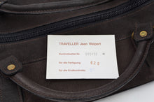 Load image into Gallery viewer, Jean Weipert Traveller Buffalo Leather Gym/Duffle Bag - Dark Brown
