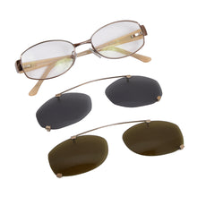 Load image into Gallery viewer, Salvatore Ferragamo 1701 Frames with 2 Pairs of Clip-On Sunglasses