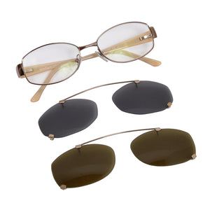 Salvatore Ferragamo 1701 Frames with 2 Pairs of Clip-On Sunglasses
