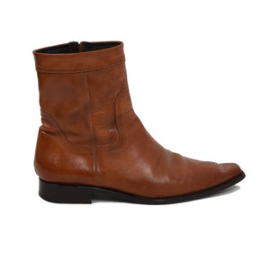 DSQUARED2 Western Style Boots Size 42 - Cognac Tan