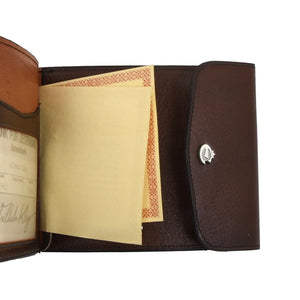 Creation Esquire Germany Leather Money Clip Wallet - Brown
