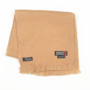 George Harrison Scarf in Camelhair & Wool - Tan