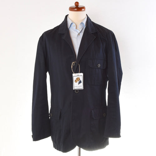 Aigner Cotton Safari Jacket Size 50 - Navy