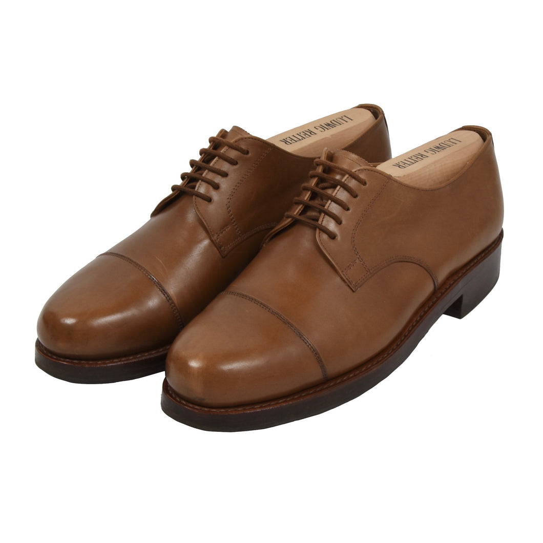 Ludwig Reiter Cap Toe Derby Shoes Size 9 - Tan