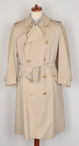 Vintage Burberry Double-Breasted Trench Size 44 - Beige