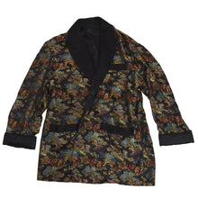 Load image into Gallery viewer, Chinese Rayon Smoking Jacket - Black
