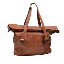 Load image into Gallery viewer, Vintage Leather Duffle/Weekender XXL 47cmW x 55xmH - Tan