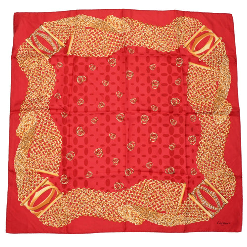 Cartier Paris Silk Scarf - Red