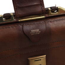 Load image into Gallery viewer, Vintage Renwick Harness Leather Briefcase - Brown