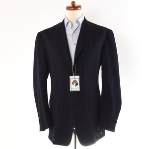 Canali Kei Unstructured Jacket Size 52 - Navy Blue