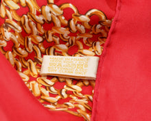 Load image into Gallery viewer, Cartier Paris Silk Scarf - Red