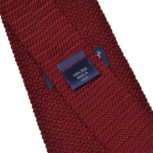 Land's End Silk Knit Tie - Red