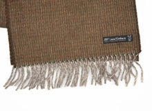 Load image into Gallery viewer, Cashmere Striped Scarf by - Green & Brown