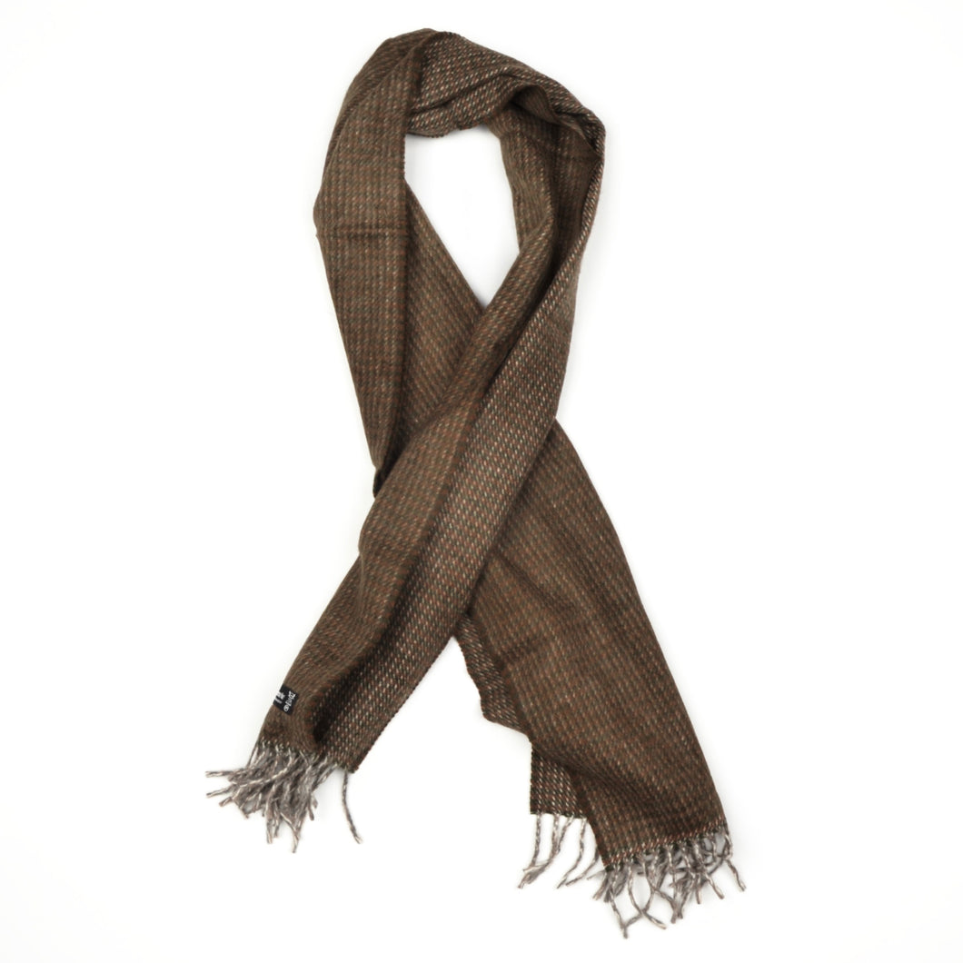 Cashmere Striped Scarf by - Green & Brown