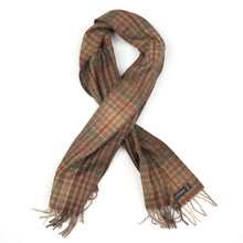 Load image into Gallery viewer, Pure Cashmere Plaid Scarf - Green & Brown