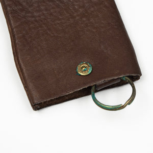 Goldpfeil Leather Keychain/Case - Dark Brown