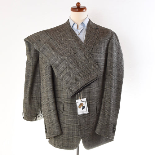 Boglioli Wool Flannel Suit Size 52 - Glen Plaid