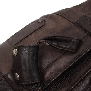 Vintage Arrow Montreal Leather Duffle Bag - Brown