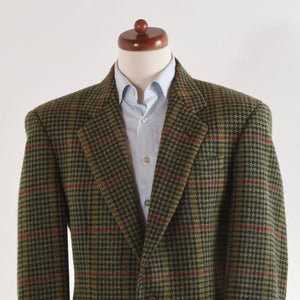 DAKS Tweed Jacket Size 58 - Green Houndstooth
