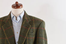 Load image into Gallery viewer, DAKS Tweed Jacket Size 58 - Green Houndstooth