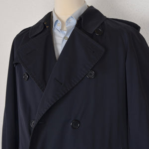 Vintage Burberry Double-Breasted Trench Size 48 Long - Navy