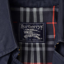 Load image into Gallery viewer, Vintage Burberry Double-Breasted Trench Size 48 Long - Navy