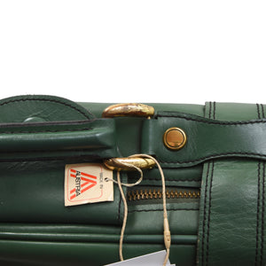 F. Schulz Wien Small Leather Suitcase - Green