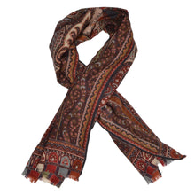 Load image into Gallery viewer, Etro Milano Aztec Inspired Scarf - Red, Burgundy, Orange