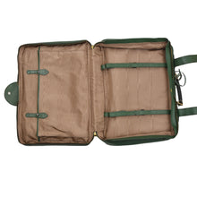 Load image into Gallery viewer, F. Schulz Wien Small Leather Suitcase - Green