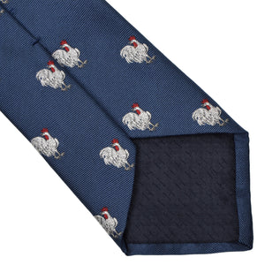 Hermès Paris Embroidered Silk Tie - Rooster