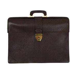 Jelen Paris Buffalo Leather Briefcase - Brown