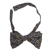 Load image into Gallery viewer, Printed Silk Bow Tie - Navy