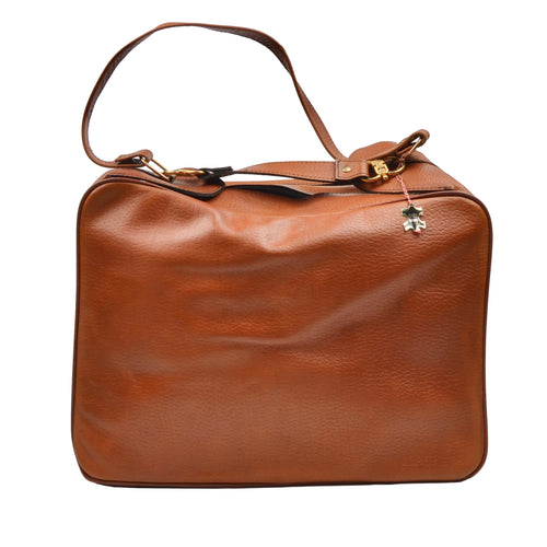 Vintage Leather Weekender/Carry-On Bag - Hazelnut Brown
